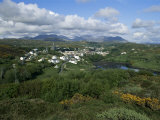 Clifden and the Twelve Pins or Benna Beola Mountains, County Galway, Connacht, Eire Photographic Print by Gavin Hellier