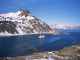 Overlooking Grytviken and King Edward Point, South Georgia, South Atlantic, Polar Regions Photographic Print by Geoff Renner