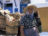 Old Woman, Hora, Mykonos, Cyclades, Greece Photographic Print by Gavin Hellier