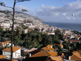 View Over City from Fortaleza Do Pico (Fort), Funchal, Madeira, Portugal, Atlantic Photographic Print by Jenny Pate