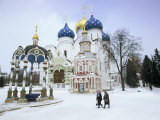 Cathedral of the Assumption in Winter Snow, Sergiev Posad, Moscow Area Photographic Print by Gavin Hellier