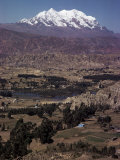 Illimani, 21184 Ft, Near La Paz, Bolivia, South America Photographic Print by Walter Rawlings