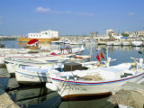 Fishing Boats in the Fishing Harbour, Tyre (Sour), Lebanon, Middle East Photographic Print by Gavin Hellier