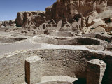 Kivas, Pueblo Bonito Dated at 1000-1100 AD, Anasazi Site, New Mexico Photographic Print by Walter Rawlings