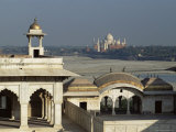 Taj Mahal, Across the Jumna River from the Fort, Agra, Uttar Pradesh State, India Photographic Print by Gavin Hellier