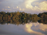 Clouds Reflected in the Sepik River, Papua New Guinea Photographic Print by Sybil Sassoon
