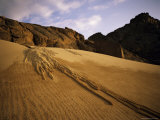 A Sand Avalanche after a Rainstorm in the Sahara Desert, Algeria, North Africa, Africa Photographic Print by Geoff Renner