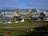Our Saviour's Church and Jonathon Petersen Memorial, Nuuk (Godthab), Greenland, Polar Regions Photographic Print by Gavin Hellier