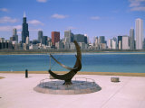City Skyline and Lake Michigan from the Adler Planetarium, Chicago, Illinois, North America Photographic Print by Jenny Pate