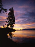 Sunrise, Yellowstone Lake, Yellowstone National Park, Wyoming Photographic Print by Geoff Renner