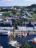 Risor, the White Town on the Skagerrak, South Coast, Norway, Scandinavia Photographic Print by Gavin Hellier