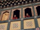 Monks, Bhutan Photographic Print by Sybil Sassoon