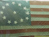 Oldest U.S. Flag, State House, Annapolis, Maryland, USA Photographic Print by Walter Rawlings