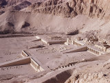 Ramps and Terraces of the Temple of Queen Hatshepsut, Deir El Bahri, Egypt Photographic Print by Walter Rawlings