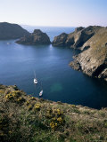 Havre Gosselin, Looking North to Gouliot Headland, West Coast, Sark, Channel Islands Photographic Print by Geoff Renner