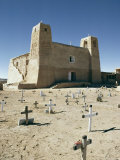 16th Century Mission San Estevan Del Rey, Acoma Pueblo, New Mexico, USA Photographic Print by Walter Rawlings