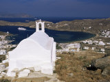 Church Above Ormos, the Port, Island of Ios, Cyclades, Greece Photographic Print by Gavin Hellier