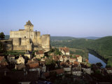 Chateau De Castelnaud, Dating from the 12th Century, Above the River Dordogne, Aquitaine, France Photographic Print by David Hughes