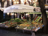 Fruit and Vegetable Shop in the Piazza Mercato, Frascati, Lazio, Italy Photographic Print by Michael Newton