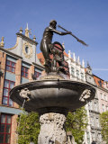 The Neptune Fountain, Dlugi Targ (Long Market), Gdansk, Pomerania, Poland Photographic Print by Gavin Hellier