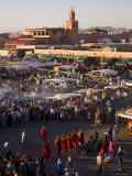 Food Stalls in the Evening, Djemaa El Fna, Marrakesh, Morocco, North Africa, Africa Photographic Print by Gavin Hellier