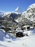 Zermatt and the Matterhorn, Swiss Alps, Switzerland Photographic Print by Gavin Hellier