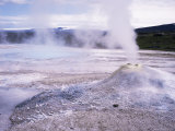 Hverquellir Geothermal Area, Interior Highlands, Iceland, Polar Regions Photographic Print by Geoff Renner
