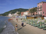 Beachfront, Alassio, Italian Riviera, Liguria, Italy Photographic Print by Gavin Hellier