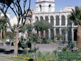 Plaza De Armas, Main Square, Arequipa, Unesco World Heritage Site, Peru, South America Photographic Print by Walter Rawlings