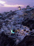 Windmill and Village of Oia, Island of Santorini (Thira), Cyclades, Greece Photographic Print by Gavin Hellier