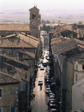 View of the Main Street from the Palazzo Farnese, Caprarola, Lazio, Italy Photographic Print by Michael Newton