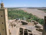View from Roof of Kasbah at Tifiltoute Near Ouarzazate, Draa Valley, Morocco, North Africa, Africa Photographic Print by Jenny Pate