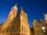 The Main Town Hall in Gdansk Old Town, Built in 1492, Dlugi Targ, Gdansk, Pomerania, Poland Photographic Print by Gavin Hellier