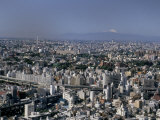 City Skyline with Mount Fuji Beyond, Tokyo, Japan Photographic Print by Gavin Hellier