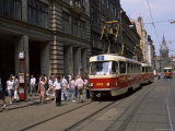 Trams, Prague, Czech Republic Photographic Print by Gavin Hellier