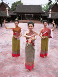 Traditional Thai Dancers, Old Chiang Mai Cultural Centre, Chiang Mai, Thailand, Southeast Asia Photographic Print by Gavin Hellier