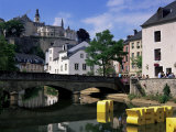 Old City and River, Luxembourg City, Luxembourg Photographic Print by Gavin Hellier
