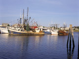 Fishing Boats, Hyannis Port, Cape Cod, Massachusetts, New England, USA Stampa fotografica di Walter Rawlings