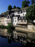 Houses Along the River in the Old Town, Luxembourg City, Luxembourg Photographic Print by Gavin Hellier