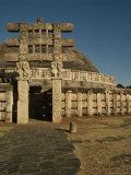 The West Gate, Torana, Great Stupa, Sanchi, Unesco World Heritage Site, Madhya Pradesh, India Photographic Print by Robert Harding