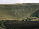 The Long Man, Wilmington, East Sussex, England, United Kingdom Photographic Print by Walter Rawlings