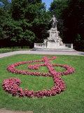 Memorial to Mozart, Burggarten, Vienna, Austria Photographic Print by Geoff Renner