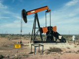 Oil Well Pump, Near Odessa, Texas, USA Photographic Print by Walter Rawlings