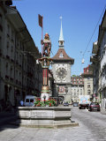 Kramgasse and the Zeitglockenturm, Bern, Bernese Mittelland, Switzerland Photographic Print by Gavin Hellier