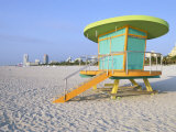Art Deco Style Lifeguard Hut, South Beach, Miami Beach, Miami, Florida, USA Photographic Print by Gavin Hellier