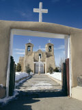 Mission San Francisco De Asis, Ranchos De Taos, New Mexico, USA Photographic Print by Walter Rawlings
