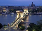 View Over Chain Bridge and St. Stephens Basilica, Budapest, Hungary Photographic Print by Gavin Hellier