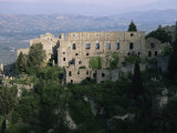 Palace of the Despots and the Plain of Sparta Below, Mistra, Greece Photographic Print by Adrian Neville