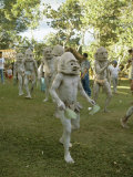 Mudmen from Asaro Parade as Ancestral Spirits, Papua New Guinea Photographic Print by Mrs Holdsworth