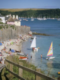 Beach and Cottages, St. Mawes, Cornwall, England, United Kingdom Photographic Print by Jenny Pate